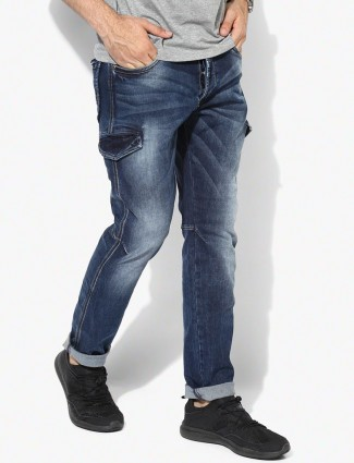 Spyker navy casual wear denim jeans