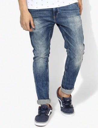 Spyker slim fit blue casual denim jeans