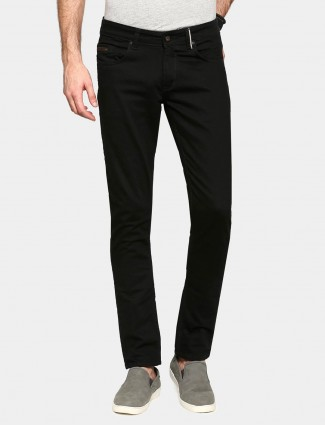 Spyker solid black denim jeans