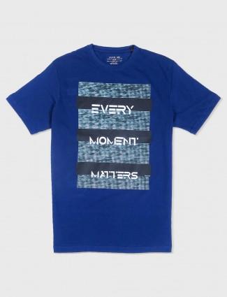 Status Quo blue casual t-shirt