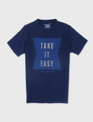 Status Quo cotton navy t-shirt