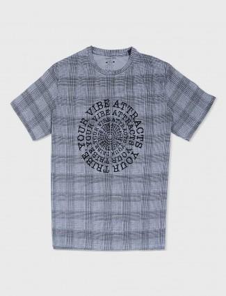 Status Quo grey checks t-shirt