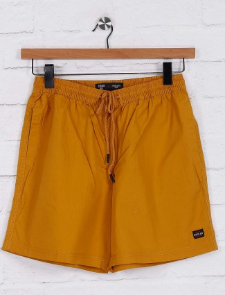Status Quo mustard yellow night shorts