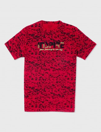 Status Quo red casual t-shirt