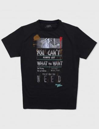 Status Quo slim fit black t-shirt
