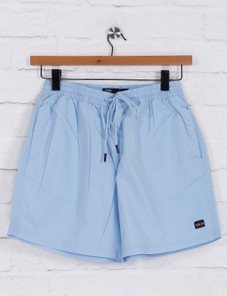Status Quo solid blue colored mens shorts