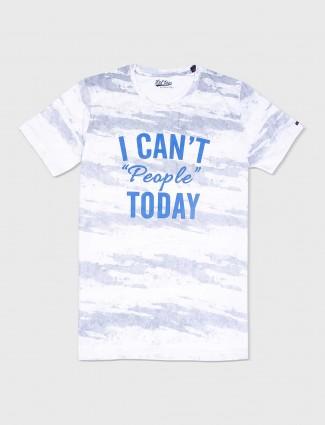 Status Quo white hue printed t-shirt