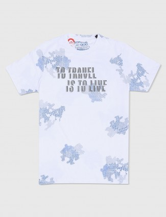 Status Quo white slim fit t-shirt