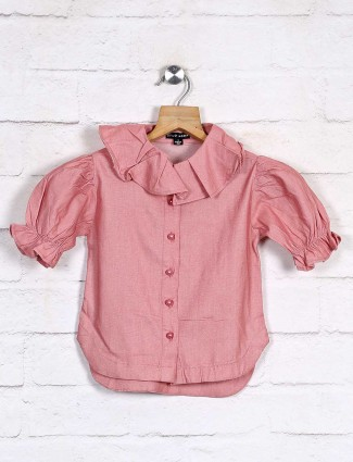 Stilomoda cotton pink solid top