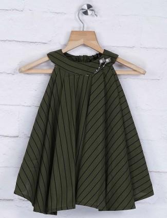Stilomoda green hue casual top
