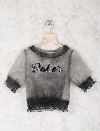 Stilomoda grey hue cotton top