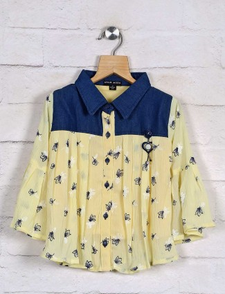 Stilomoda yellow top design in cotton