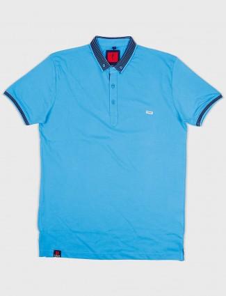 Stride aqua hue cotton t-shirt