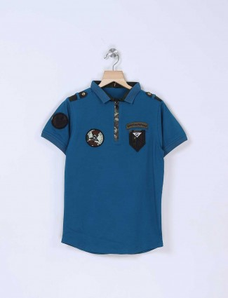 Stride blue simple t-shirt