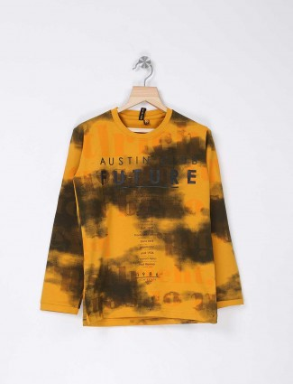 Stride casual yellow color t-shirt