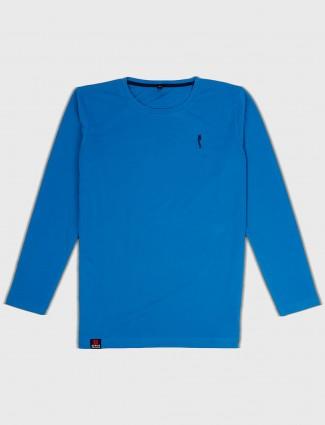 Stride cotton fabric blue t-shirt