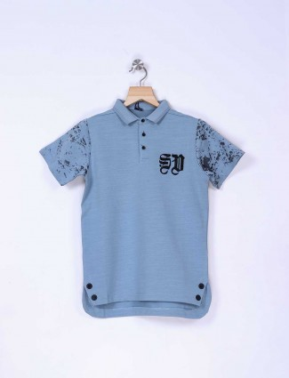 Stride light blue cotton t-shirt
