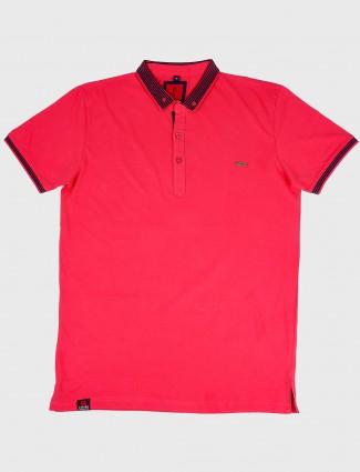 Stride magenta hue cotton t-shirt