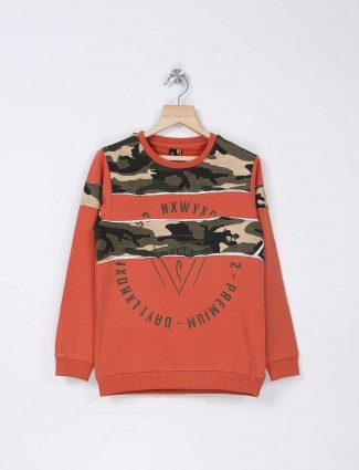 Stride orange printed t-shirt