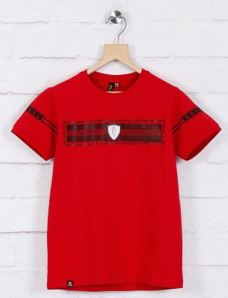 Stride presented red printed t-shirt