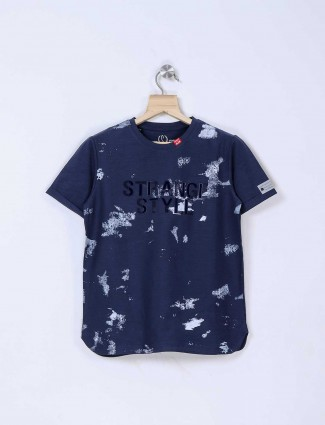 Stride slim fit navy hue t-shirt