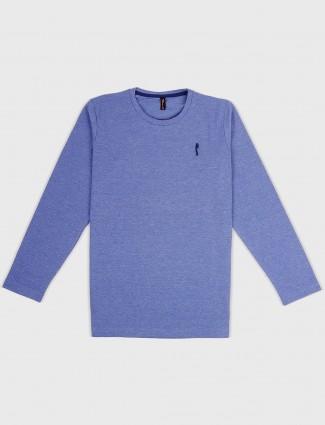 Stride solid blue hue cotton t-shirt