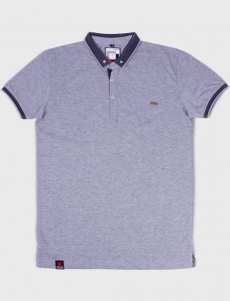 Stride solid slim fit dark grey t-shirt