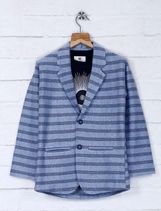 Stripe blue color party wear blazer
