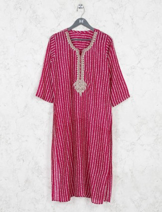 Stripe purple cotton tunic
