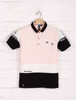 Sturd pink printed casual t-shirt