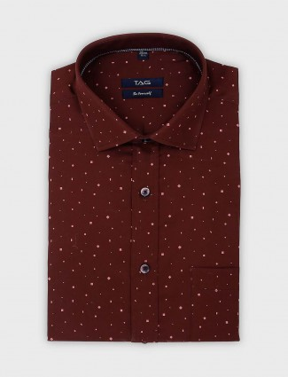 TAG presented brown printed shirt