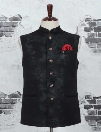 Terry rayon black waistcoat