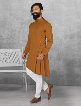 Terry rayon brown kurta suit