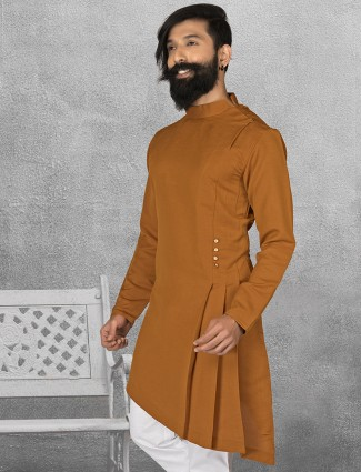 Terry rayon brown short pathani