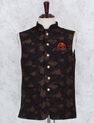 Terry rayon fabric brown hue waistcoat