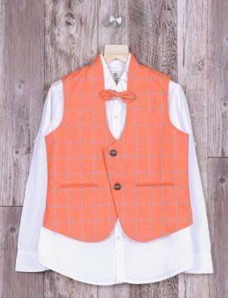 Terry rayon fabric peach color waistcoat