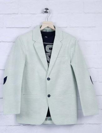 Terry rayon light green hue blazer