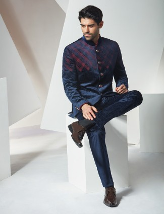 Terry rayon party wear jodhpuri coat suit