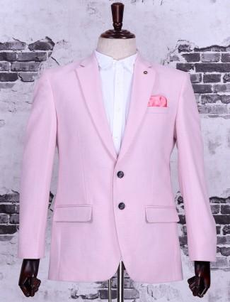 Terry rayon pink color blazer