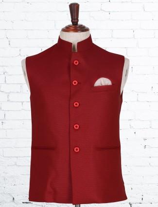 Terry rayon red waistcoat