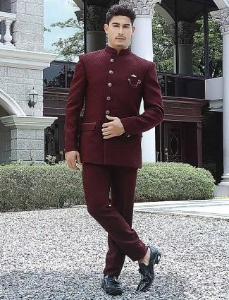 Terry rayon wedding function solid joshpuri suit