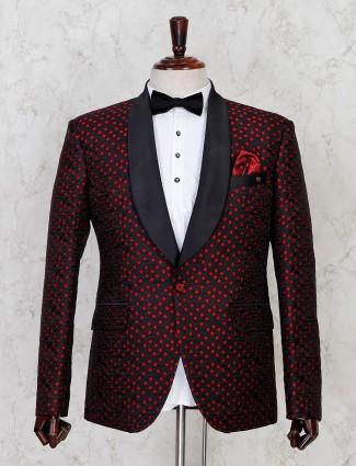 Thread woven blck terry rayon mens tuxedo coat suit