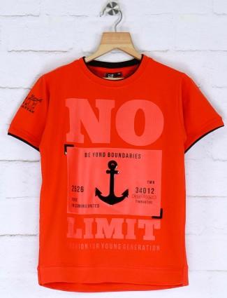 Timbuktu presented orange printed t-shirt