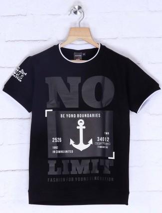 Timbuktu printed black hue t-shirt