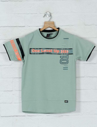 Timbuktuu green printed cotton t-shirt