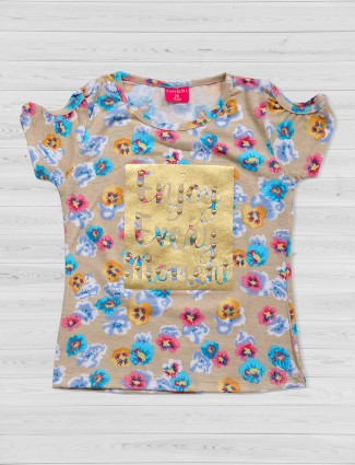 Tiny Girl beige color cotton top