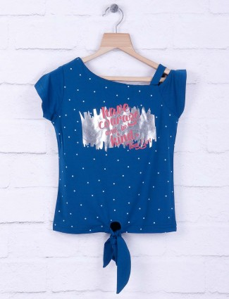 Tiny Girl blue hue cotton casual top
