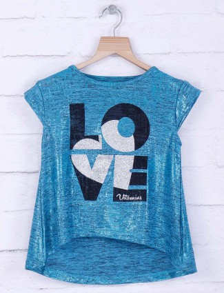 Tiny Girl blue knitted casual top