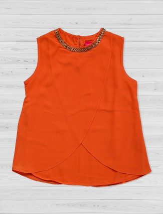 Tiny Girl bright orange crepe top