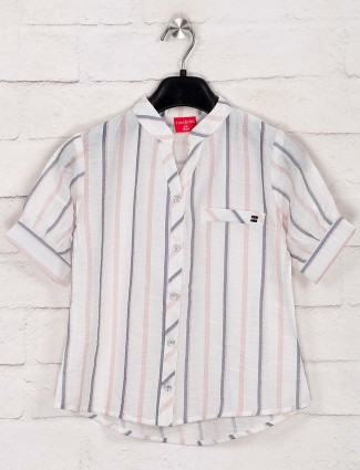 Tiny Girl casual wear stripe white top